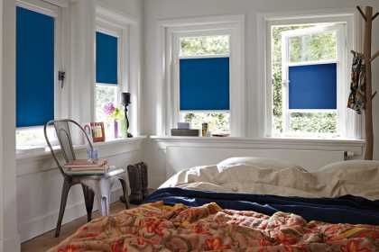 blue blackout blinds