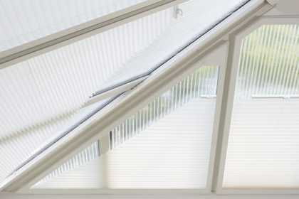 white conservatory blinds
