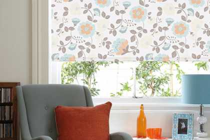 flowered roller blinds