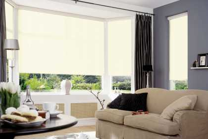 cream blinds