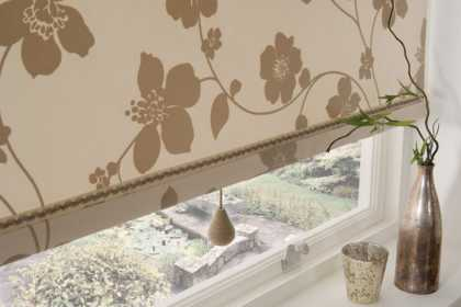 flowered roman blinds