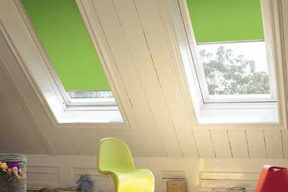 green velux blinds
