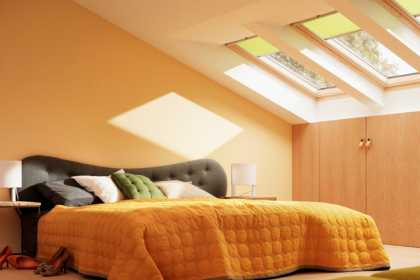 yellow velux blinds