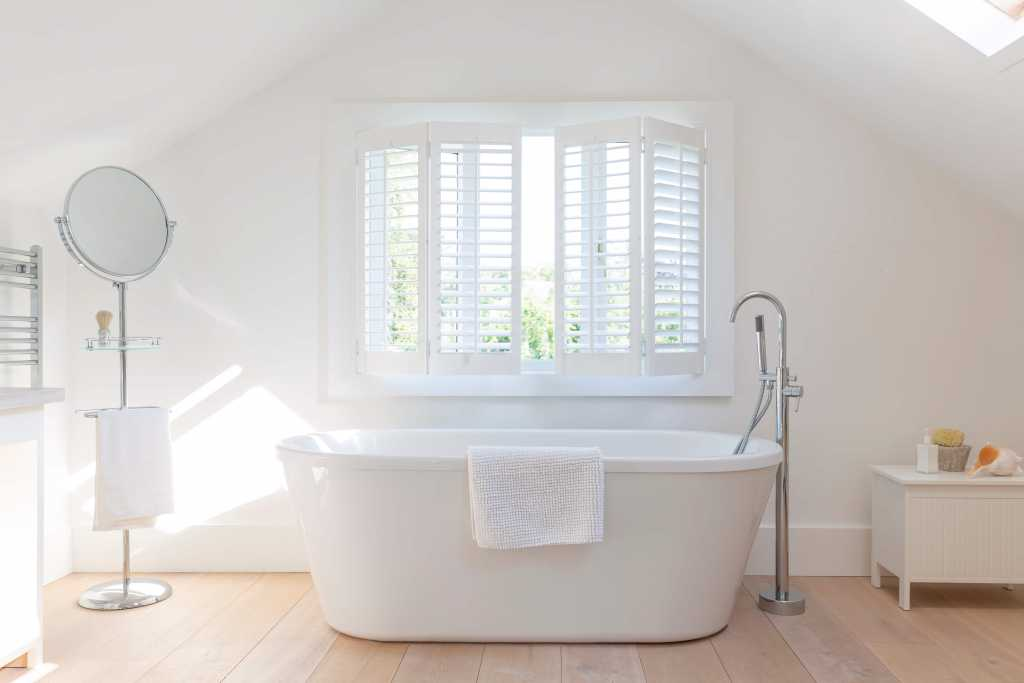 bathroom with blinds fitted